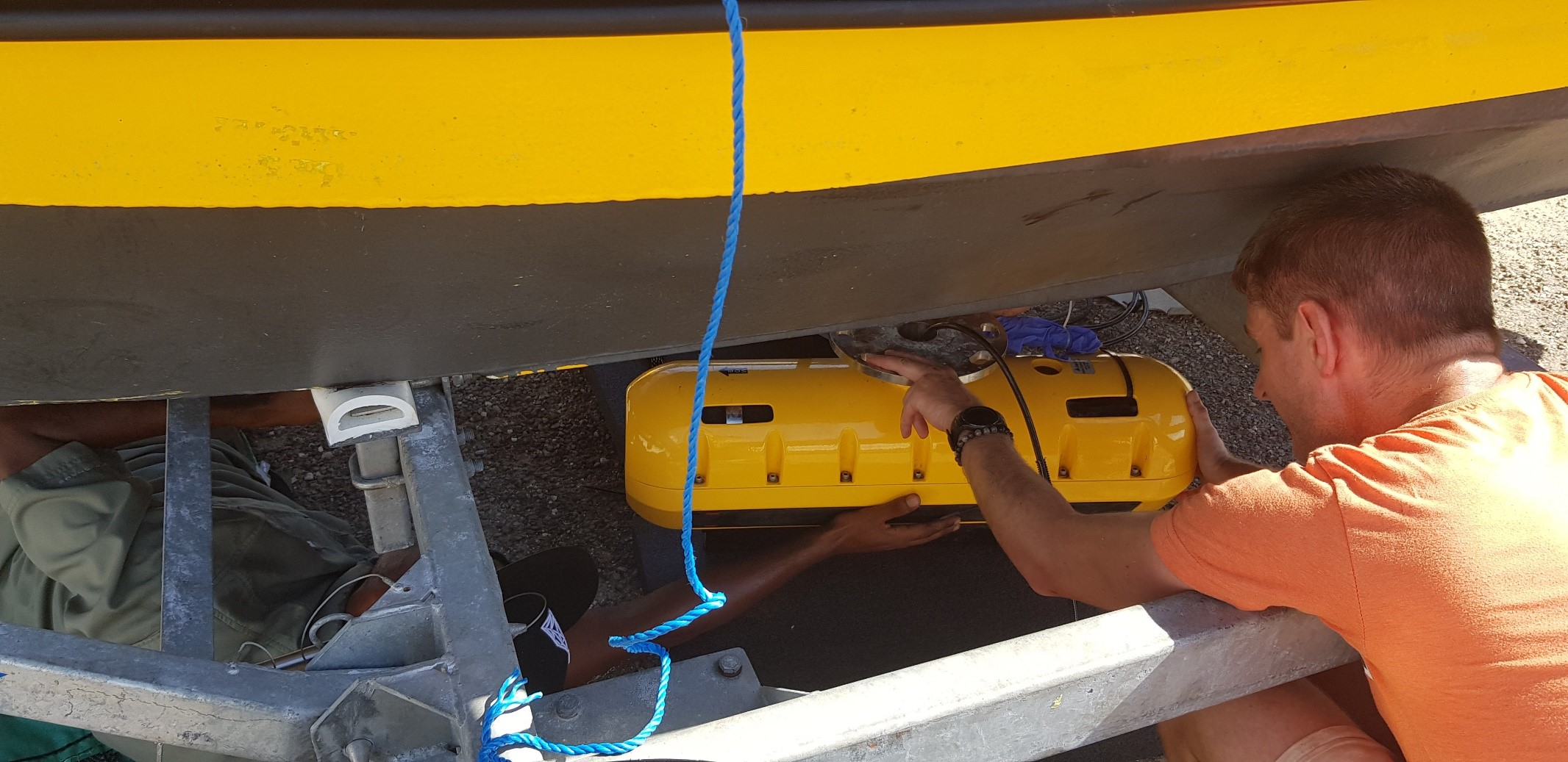 Fitting the Side Scan Sonar with Sub-bottom Profiler